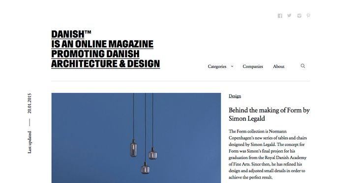 Danish™ - Site of the Day January 24 2015