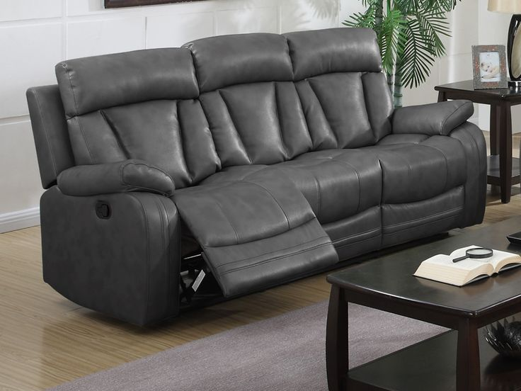 The Walworth Reclining Sofa From Ashley Furniture HomeStore (AFHS.com).  Leather Match Upholstery Features Top Grain Leather In The Seating Areas Wiu2026