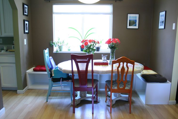 Diy Dining Table Booth Seating Home Pinterest In