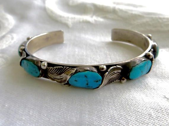 Zuni Sterling Cuff Bracelet, Turquoise Nugget Stones, Native American Silversmith Carmelita Simplicio, #Vintage Zuni #Jewelry   Zuni silversmith Carmelita Simplicio specializ... #etsy #jewelry #vintage #vintagevoguetreasure