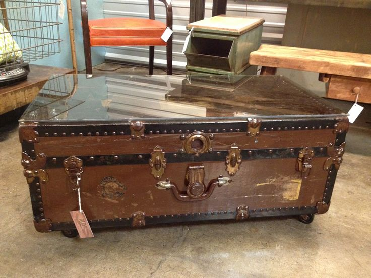 Vintage Trunk Coffee Table Make It Work Pinterest