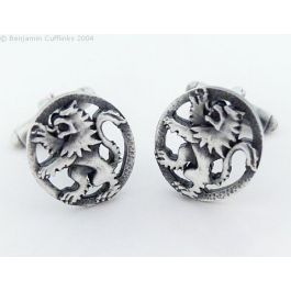 Lion Rampant Cufflinks - Imported directly from Scotland these cufflinks are made from brushed Pewter.