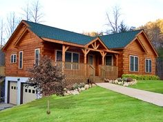 1000 images about basement garage on pinterest ranch for Log home floor plans with garage and basement