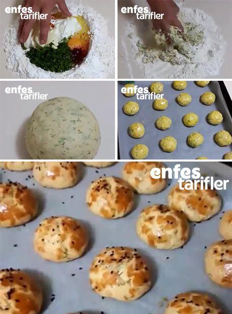 Dereotlu Poğaça Tarifi için Malzemeler 125 gram oda sıcaklığında margarin veya tereyağ 2 yumurta birinin sarısı üzeri için 1 çay bardağı sıvı yağ 2 yemek kaşığı yoğurt 1 tatlı kaşığı tuz 1 tatlı kaşığı toz şeker 2 yemek kaşığı sirke 1 paket kabartma tozu Yarım demet dereotu 3,5 bardak kadar un Dereotlu Poğaça Yapılışı Poğaça için gereken unun bir kısmını tezgah üzerine alın. Unun ortasını havuz gibi açın. Sıvı malzemeleri içine koyun. Dereotunu ince ince kıyıp sıvı malzemelerin olduğu…