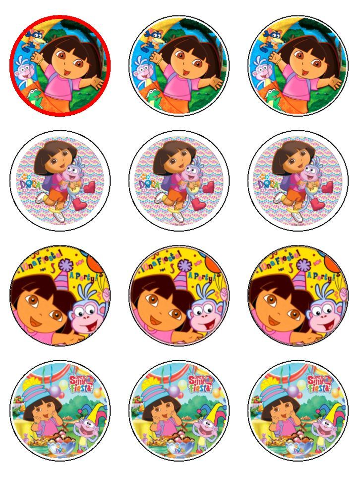 Best Bhavya Images On Pinterest Dora The Explorer Birthday - Dora birthday cake toppers