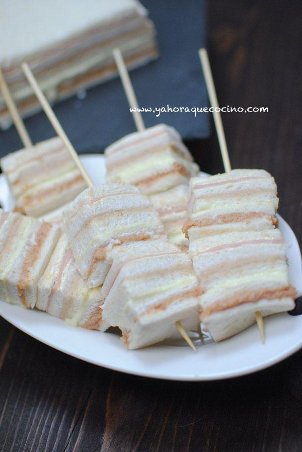 Sanduchón es una receta fácil y rápida para fiestas o reuniones con amigos. Puedes rellenarlo con patés, queso, ensaladas de pollo, jamón.