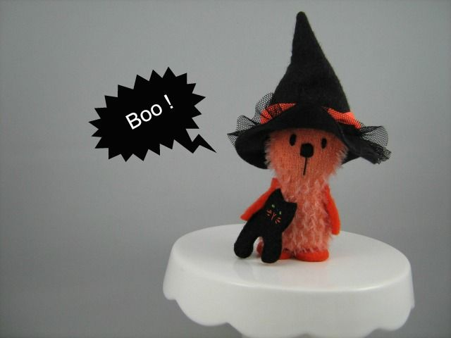 Little Bear Company Weenie the Halloween Ted made from mohair and wool felt.  www.facebook.com/Littlebearcompany or www.etsy.com/shop/Littlebearcompany