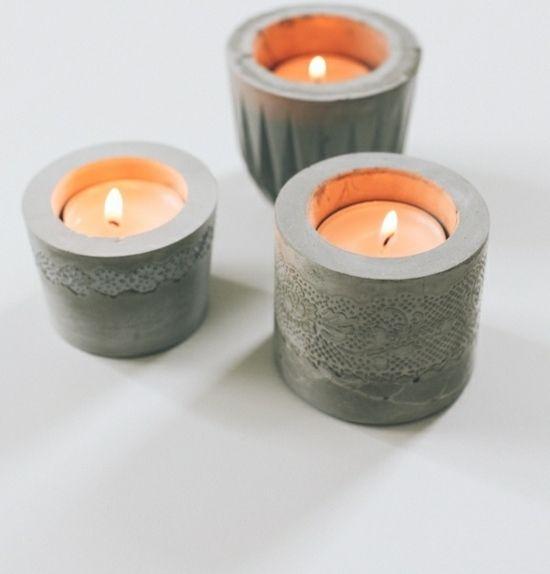 Beton Kerzen Halter selber machen
