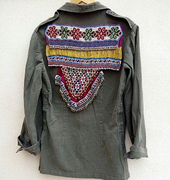Army vintage jacket por OOAKShowroom en Etsy