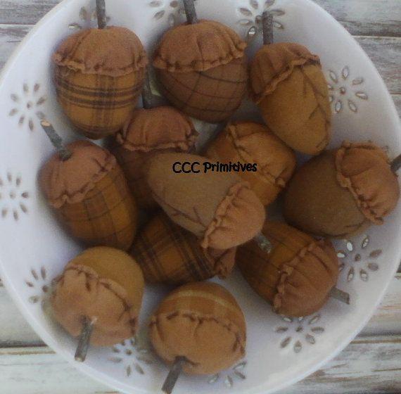 Primitive Acorn Bowl Filler  Primitive Fall Decor by CCCPrimitives, $18.00