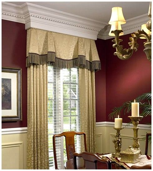 17 best images about dining room window treatments on for Formal dining room window treatments