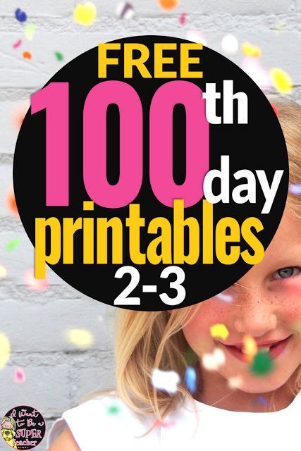 Celebrate the 100th Day with Free Printables 2-3  Need some ideas for the 100th day of school? This 100th Day Printable pack includes 4 free print and go activities you can use for art math centers brain breaks and fast finishers to celebrate the 100th day of school in your 2nd or 3rd grade classroom.  This hundreds day freebie is perfect for 2nd and 3rd grade elementary students. It includes a 100 Second Challenge that can be used as a brain break or math two spelling activities and…