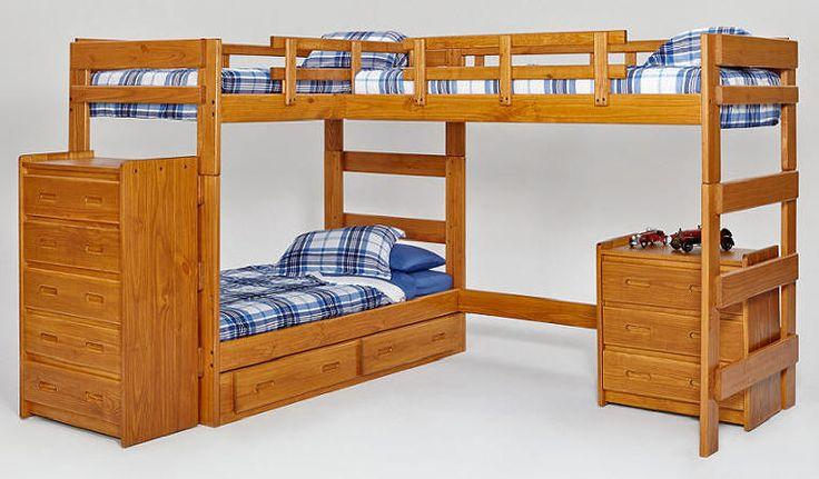 Boone Sleeps 3 Higher L Shape Loft Bed Windsor  Kids