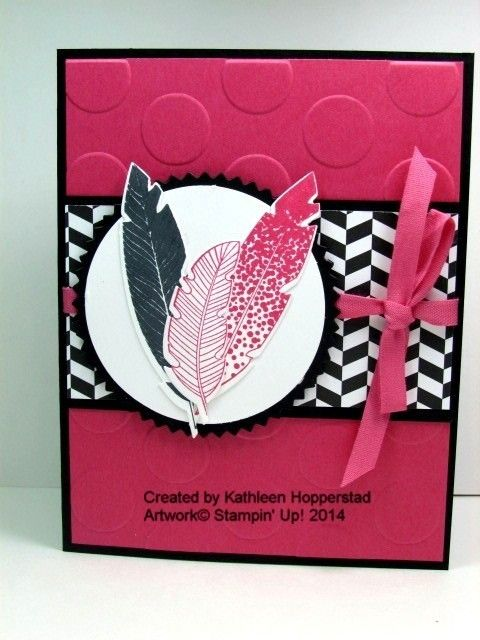 Pink Feathers | TheseAreMyStamps #SU #FourFeathers #HolidayCatalog
