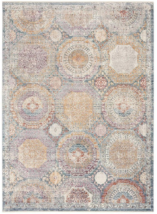 Safavieh Illusion Blue And Beige 4 X 6 Area Rug Reviews Rugs