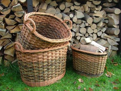 Oval log baskets Norfolk Basket Co