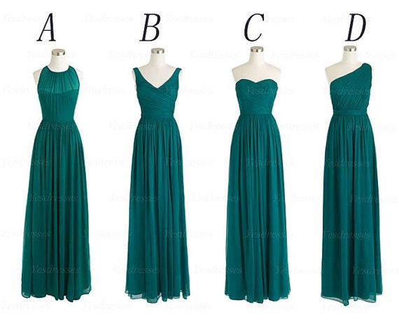mismatched bridesmaid dresses teal bridesmaid by Yesdresses, $119.00