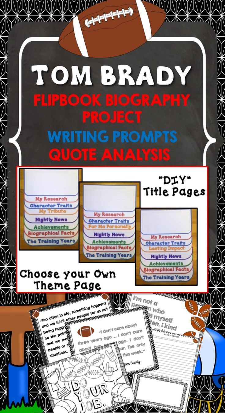 This Fun Interactive Flippable Is A Great Tool To Guide Students Through A Research Project Featuring Tom Brady Flip Book Research Projects Biography Project