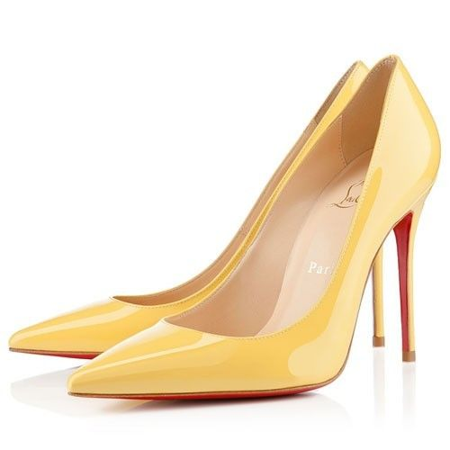 Chaussure Louboutin Pas Cher Pompe Decollete 554 100mm Canari5 #chaussure