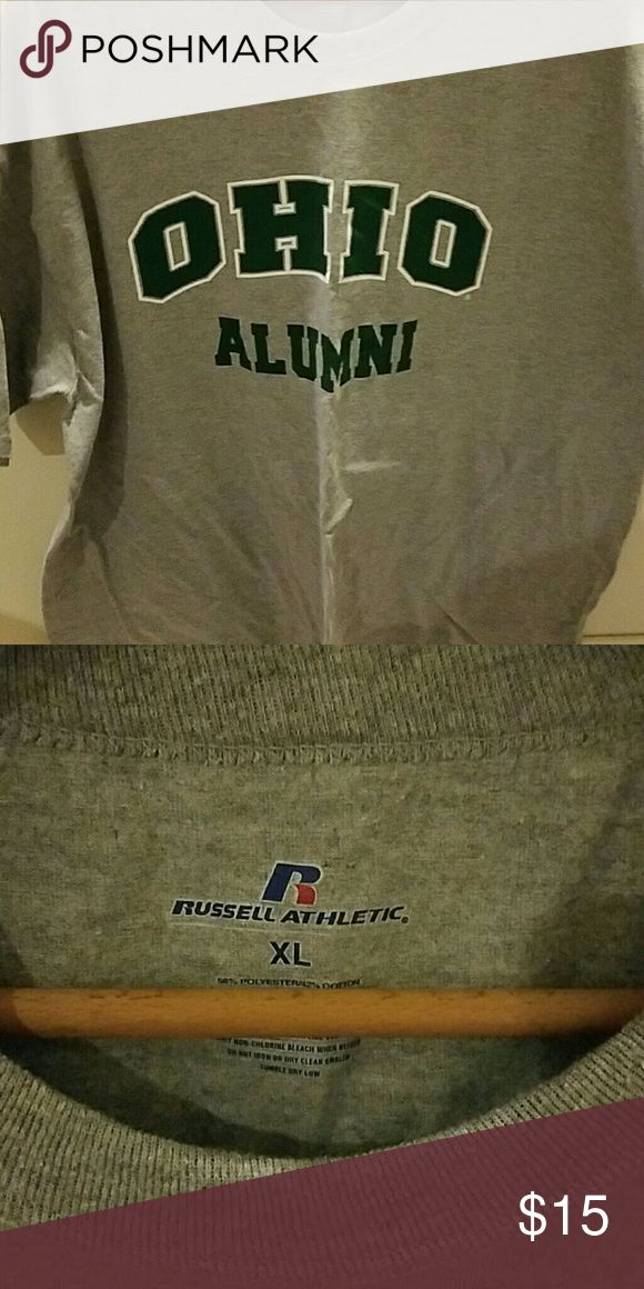 Ohio University Alumni tshirt Grey OU tshirt. Russell Athletic Tops Tees - Short Sleeve