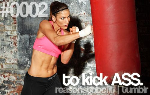 Reasons to be Fit: Fit Quotes, Exercise Motivation, Reasons To Be Fit #0002, Kicks Ass Workout, Hope Solo, Motivation Inspiration, Stress Relievers, Fit Motivation, Reasonstobefit Tumblr