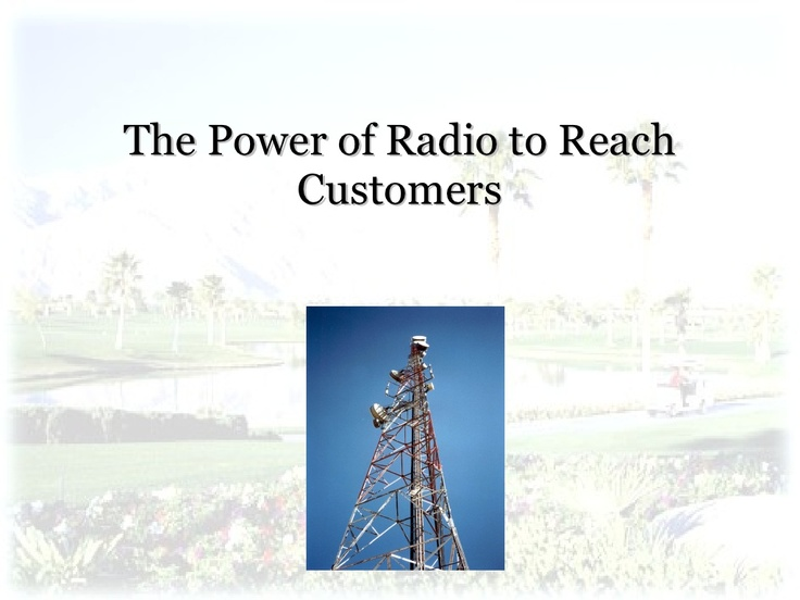 introduction-to-radio-advertising by drgradioguy via Slideshare