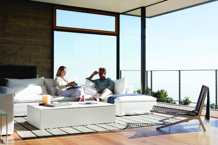 Sit back and sail away in a luxurious Australian way. The latest indoor addition, The Sail Sofa by Harbour, is designed to evoke a vacation spirit inside your home, all year around. #Harbouroutdoor #Coastalliving #coastalinteriors #dawsonandco