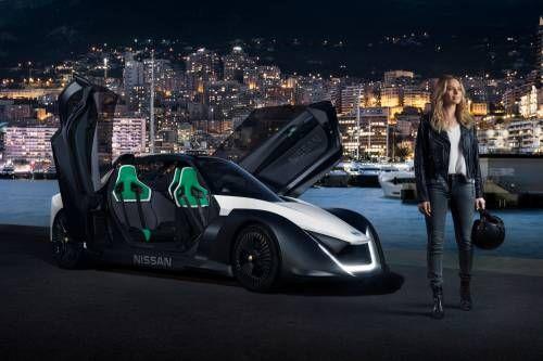 Nissan EV Ambassador Margot Robbie Takes BladeGlider for Joyride on Monaco Streets