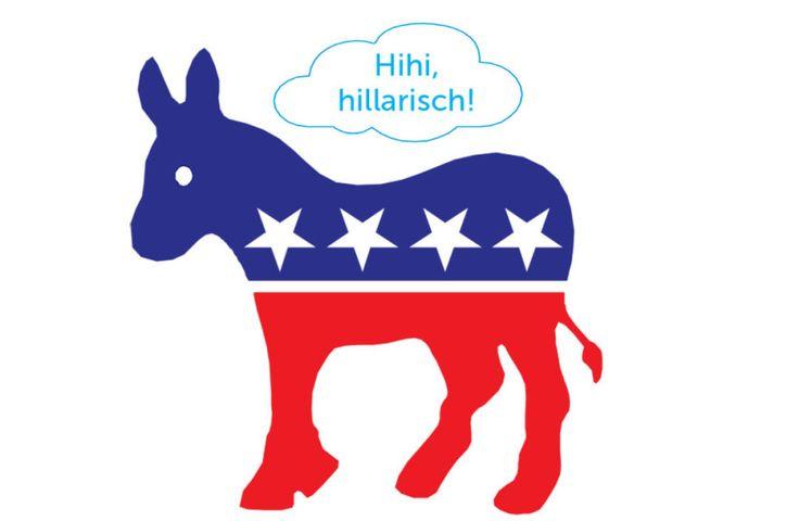 De mascotte van de Amerikaanse Democratische partij is de ezel.