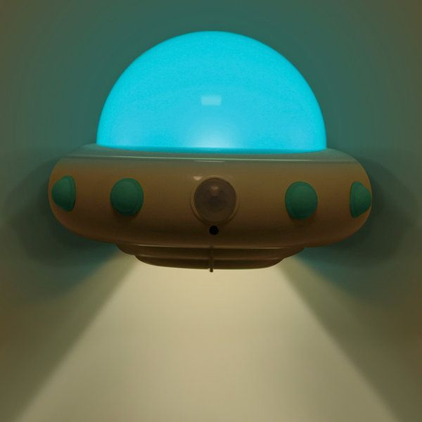 Novelty UFO Motion Activated Sensor Night Light Remote Control USB Charge Lamp
