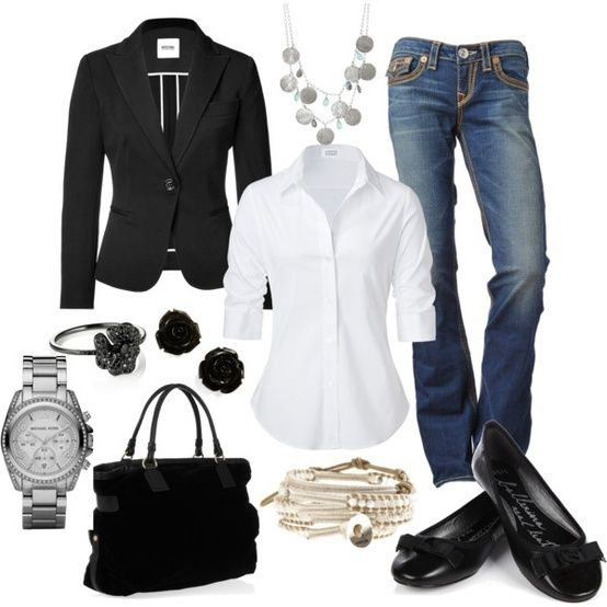 My casual taking care of business outfit. - Click image to find more Womens Fashion Pinterest