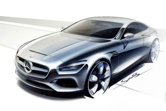 Mercedes-Benz drops first sketches of S-Class Coupé concept - Car Design News