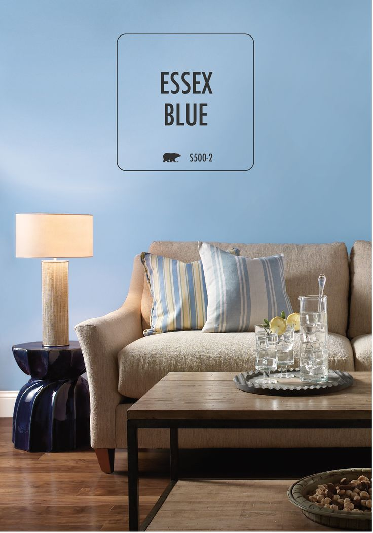 Behr paint in essex blue is the perfect beachy tone to for Neutral light blue paint