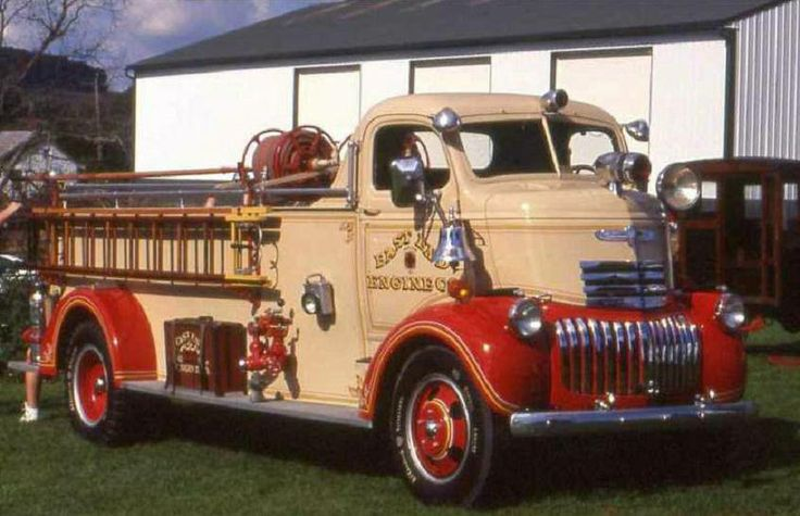 1946 Fire Truck Cab Over Trucks Fire Trucks Chevy Trucks