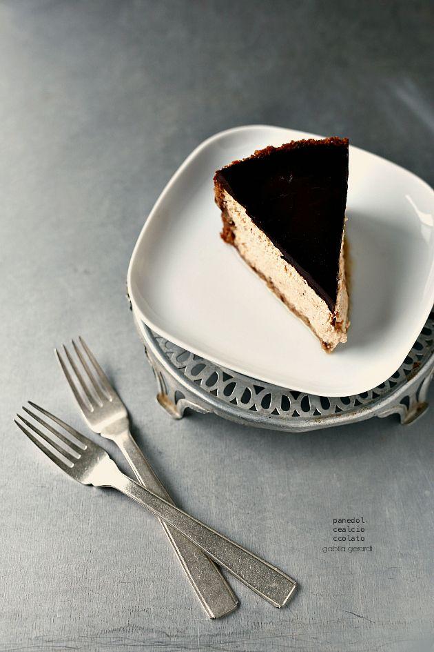Cheesecake alla zucca con copertura al cioccolato - Pumpkin Cheesecake