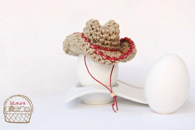 #Pasqua: Cappello da cowboy all'uncinetto per un uovo