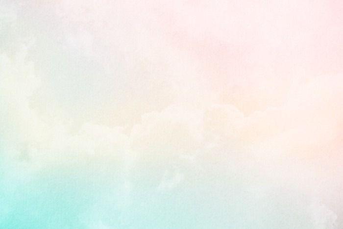 Texturas De Colores Pastel: Fotomural Suave Nube Y El Cielo Con Degradado De Color