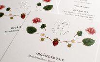 Wedding Program, by Cecilia Hedin