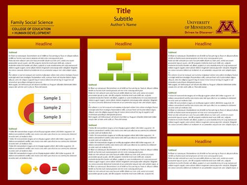 University of minnesota templates are available for for Posterpresentations com templates