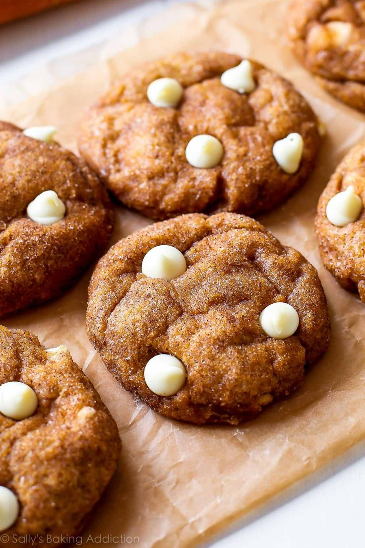These cinnamon-sugar coated white chocolate pumpkin snickerdoodles are the perfect addition to chilly fall afternoons. They're soft and chewy, without tasting cakey!