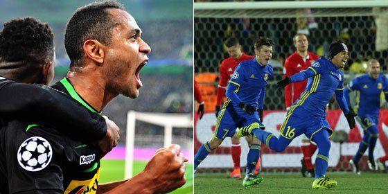Gladbachs Raffael Tor reichte nicht zu drei Punkten, aber das 1:1 hält die Borussia in Europa.