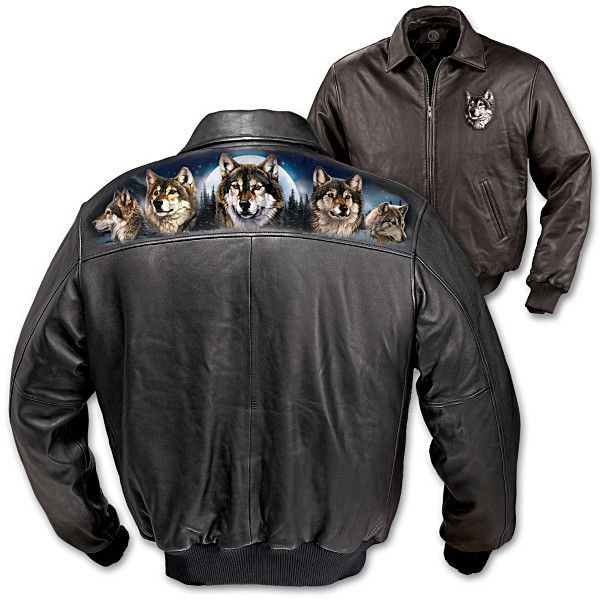 Spirit of the wilderness leather jacket wilderness for Leather jacket fish