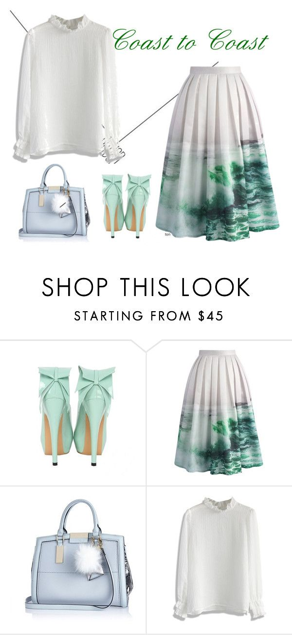 """""""Coast to coast"""" by chicwish on Polyvore featuring Chicwish, River Island, women's clothing, women, female, woman, misses and juniors"""
