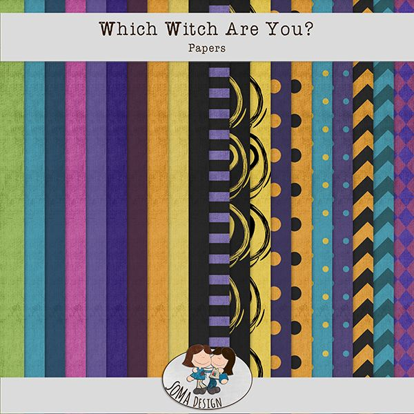 Oscraps.com :: Shop by Category :: All New :: SoMa Design: Which Witch Are You? - Kit