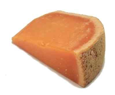 MIMOLETTE CHEESE = boule de Lille   Pronunciation:  mee-moh-LET  Notes:  This French cheese is similar to Parmesan cheese, only it's a brilliant orange.   Substitutes:  Parmesan