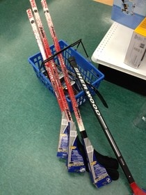 St. John's Kid: Birthday idea - preschooler sized hockey sticks for party games AND a fun take-home prize!