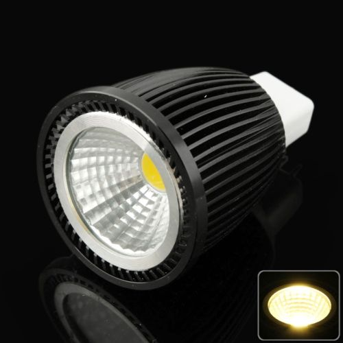 [$3.85] MR16 7W Warm White COB LED Spotlight Bulb, AC/DC 12V