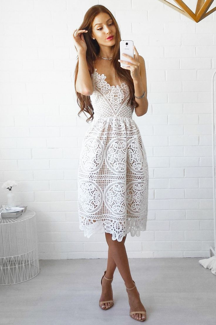 Miss Runway Fashion - Annabelle Lace Dress - White