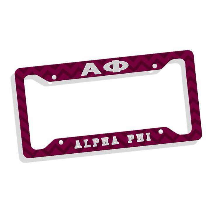 Alpha Phi Custom License Plate Frame