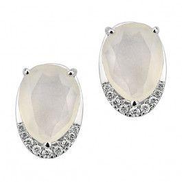 Bijuteria teilor: Cercei cu diamante și piatra lunii